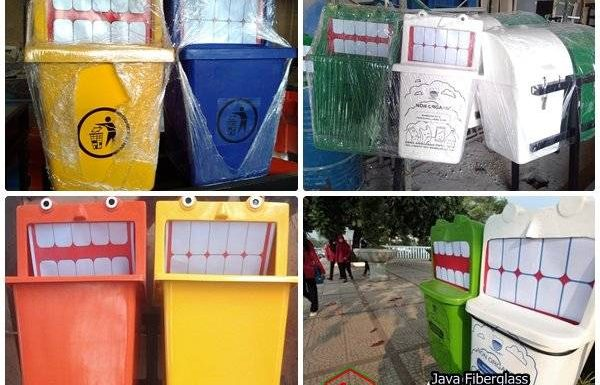 tempat sampah karakter kartun murah