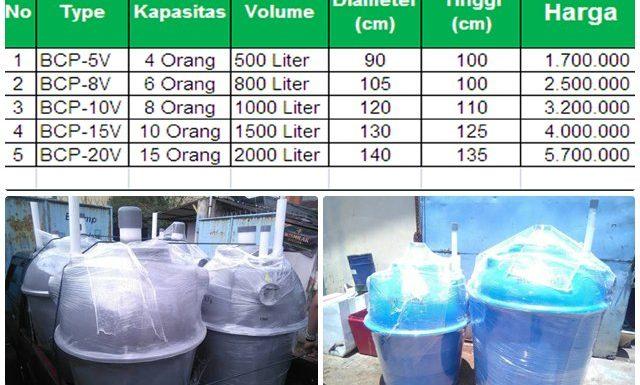 harga tangki septic tank