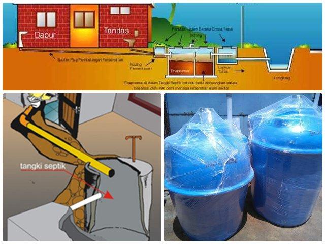 sistem tangki septic rumah